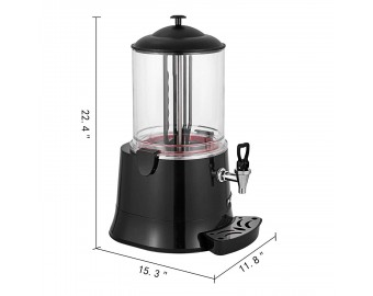 Happybuy Commercial Hot Chocolate Machine 400W Cocoa Melting Beverage Dispenser 10 Liter Milk