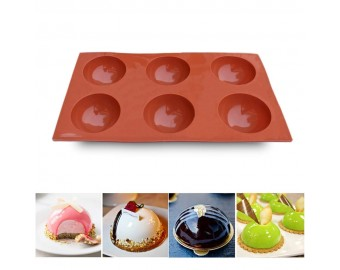3 Packs Baking Mold for Making Chocolate, Cake, Jelly, Dome Mousse
