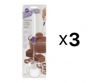 Candy Melts Treats Stainless Steel Chocolate Dipping Scoop Tool (3-Pack)